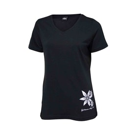 Ivanhoe of Sweden T-shirt Underwool Mim Flower Black