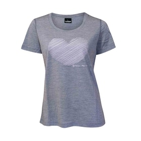 Ivanhoe of Sweden T-shirt Underwool Meja Heart Grey Marl