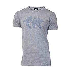 Ivanhoe of Sweden T-shirt Underwool Agaton Earth Grey Marl