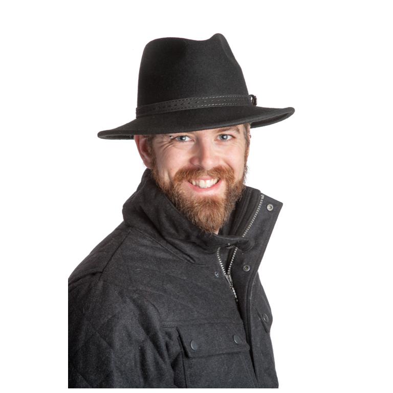 MJM - M.J. Michaelsen Hatt Hunter Black