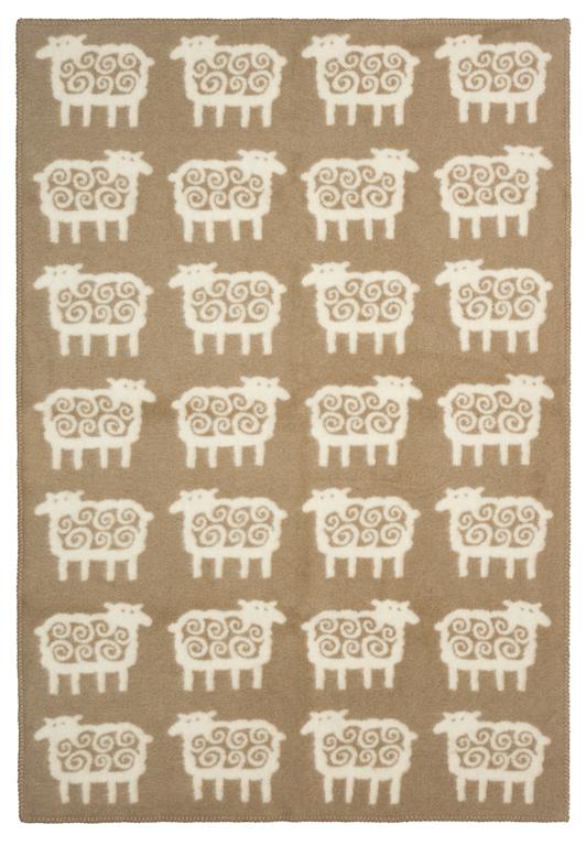 Klippan Yllefabrik Sheep Beige Barnfilt