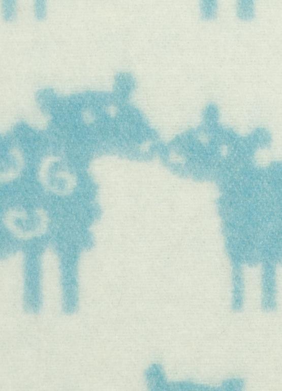 Klippan Yllefabrik Bää Blue Barnfilt