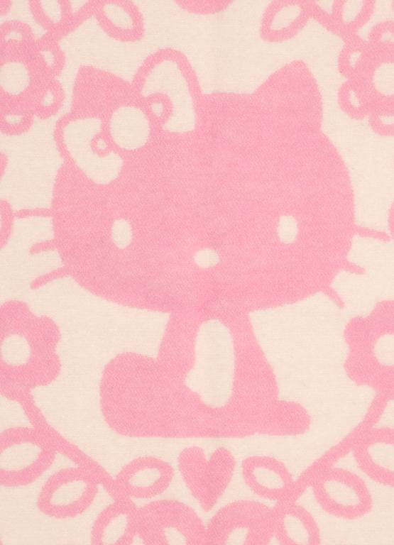 Klippan Yllefabrik Hello Kitty Pink Barnfilt