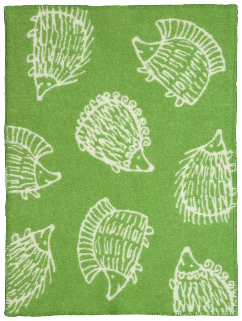 Klippan Yllefabrik Iggy Piggy Punky Green Barnfilt