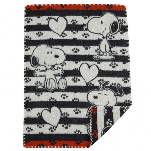 Klippan Yllefabrik Snoopy in love Barnfilt