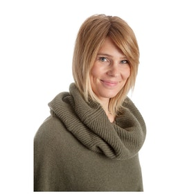 Tif-Tiffy Krage Simple Rib Snood Army