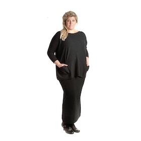 Tif-Tiffy Kjol Long Skirt Black