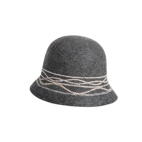 Mathlau Felt Hat Stitch Grey