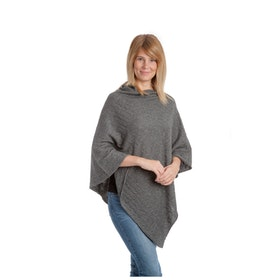Mathlau Poncho Dark Grey