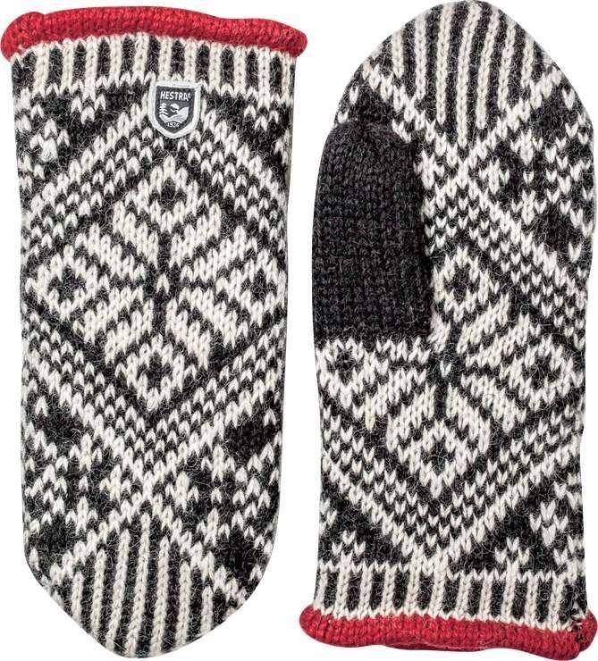 Hestra Nordic Wool Mitt Svart/Off white Tumvante