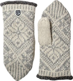 Hestra Nordic Wool Mitt Grå/Off white Tumvante