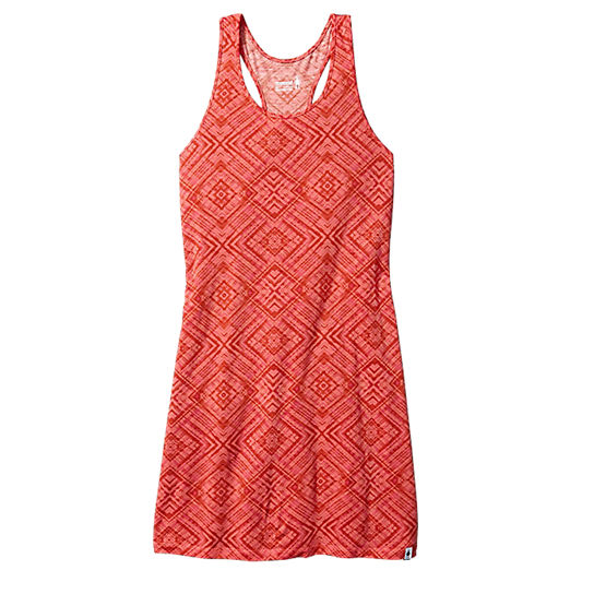 Smartwool Klänning Women´s Basic Merino 150 Pattern Dress Bright Coral