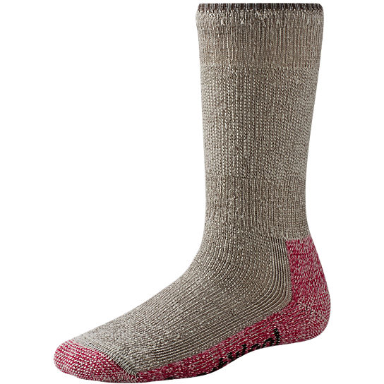 Smartwool Strumpor Women´s Mountaineering Extra Heavy Crew -Taupe/Bright Pink