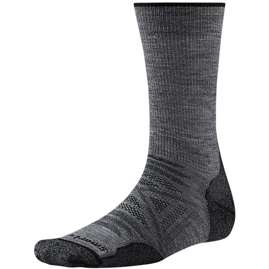 Smartwool Strumpor PhD Outdoor Light Crew Medium Gray