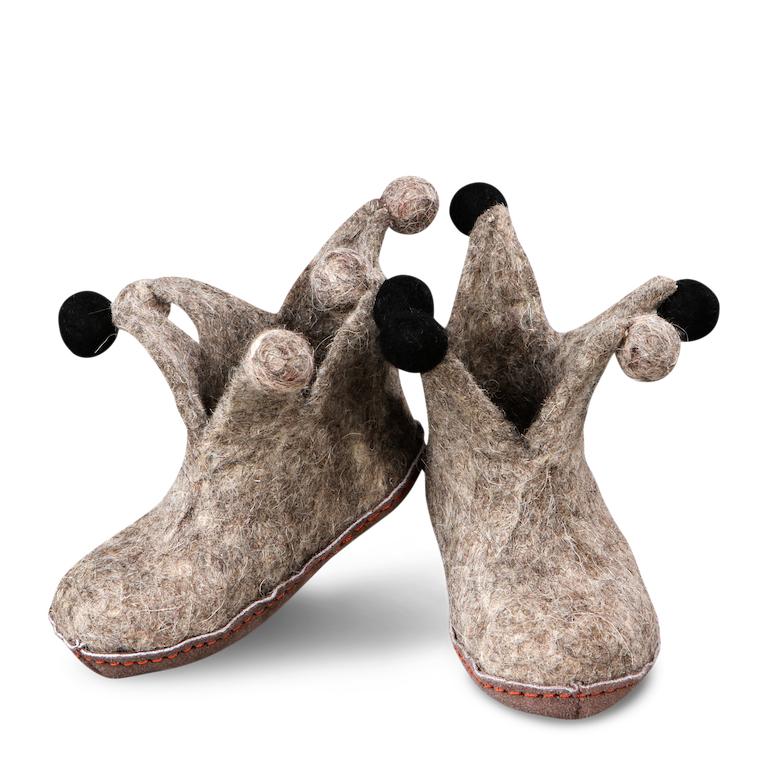 Green Comfort Jester Shoe Junior barninnetofflor i ull