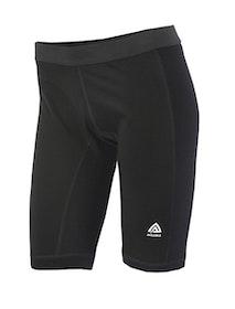Aclima AS Leggings Warmwool Long Shorts w/Windstop Woman Jet Black
