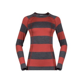 Bergans Underställströja Fjellrapp Lady Shirt Striped Lounge/Dark Grey Melange