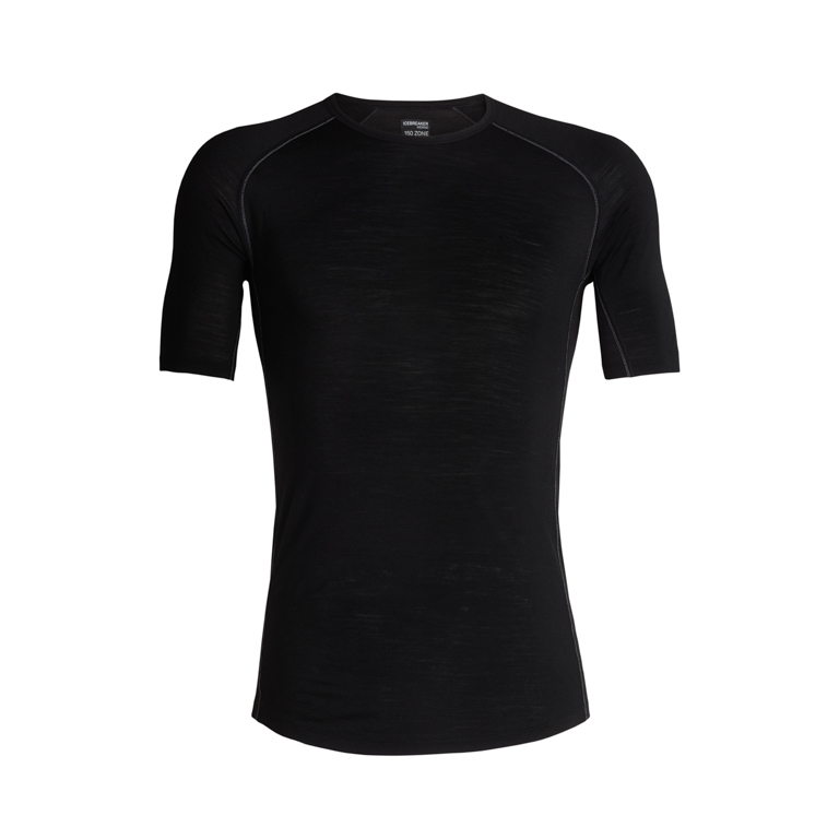 Icebreaker T-shirt 150 Zone SS Crewe Black/Mineral