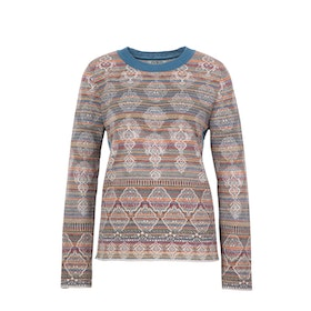 IVKO Woman Tröja Stripped Pullover Geometric Golden