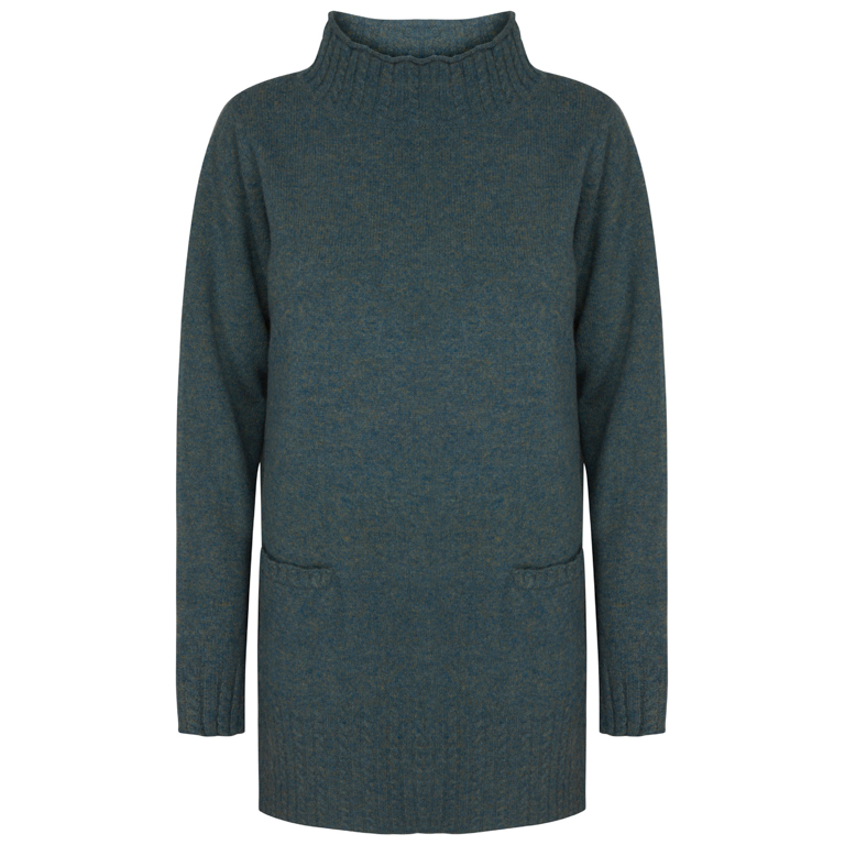 Two Danes Tröja Line Sweater Blue Grass