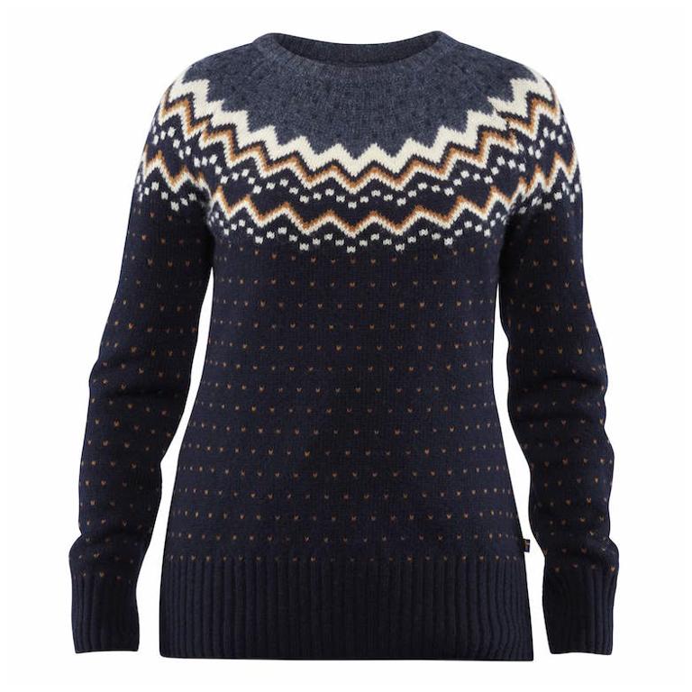 Fjällräven Tröja Övik Knit Sweater W Dark Navy
