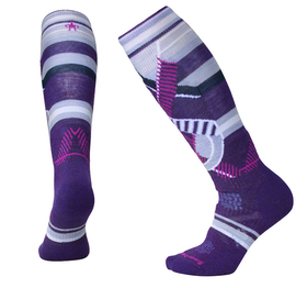Smartwool Strumpor Womens Phd Ski Medium Pattern  -Mtn Purple