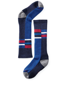 Smartwool Strumpor Kids Wintersport Stripe -Navy
