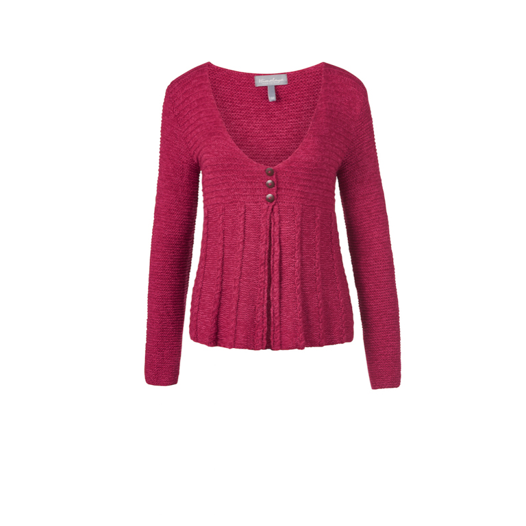 Himalaya Kofta Knit-Jacket Patty -Red