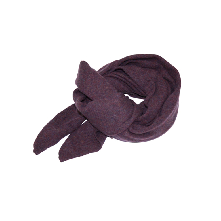 Mathlau Halsduk Scarf Lambswool -Purple
