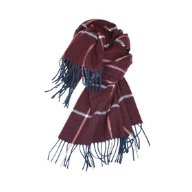 Mathlau Halsduk Wool Scarf Big Check -Purple