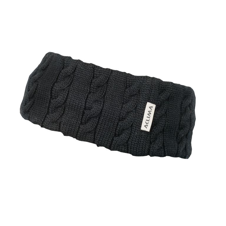 Aclima Pannband Knitted Headband Jet Black