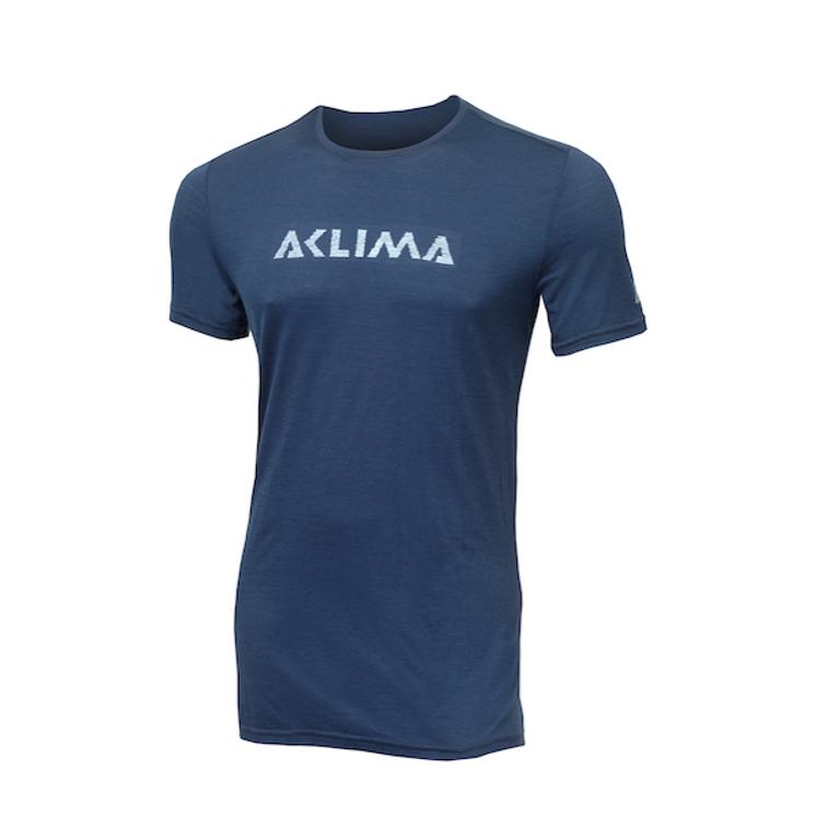 Aclima LightWool T-shirt Logo Insignia Blue