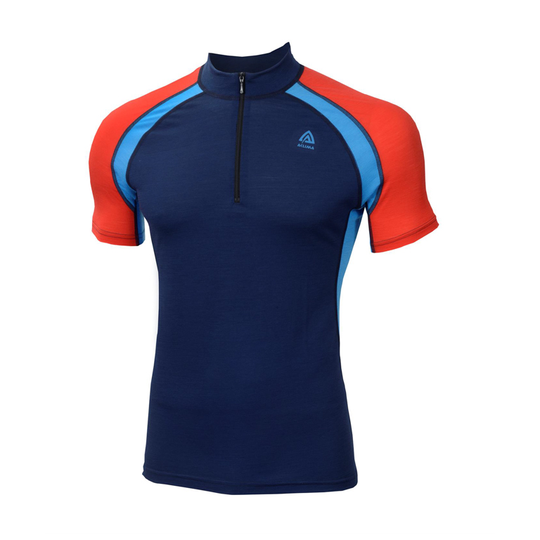 Aclima LightWool Speed Shirt Insignia Blue/Blithe/High Risk Red