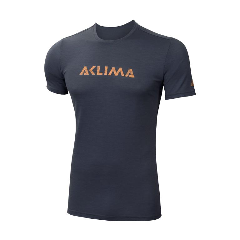 Aclima LightWool T-shirt Logo Iron Gate