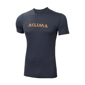 Aclima LightWool T-shirt Logo Iron Gate