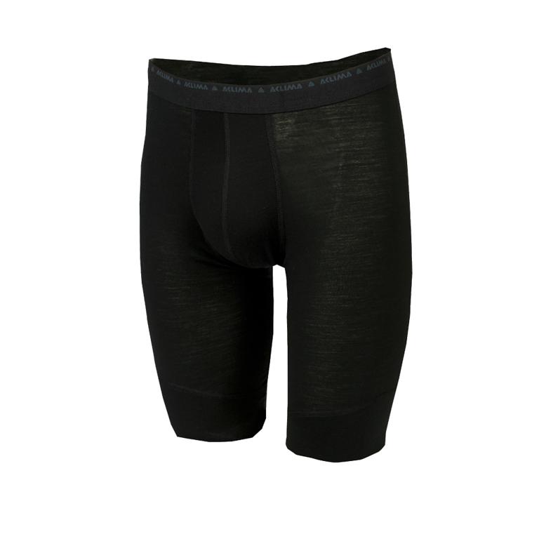 Aclima Långkalsong LightWool Shorts Long M Jetblack