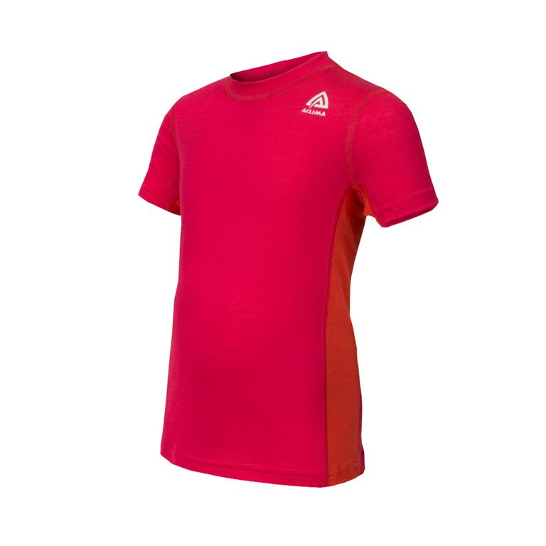 Aclima T-shirt LightWool T-shirt C Raspberry/Poinciana