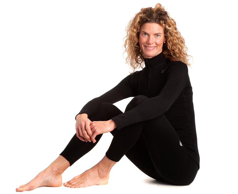 Aclima Warmwool Longs Woman Jet Black Leggings