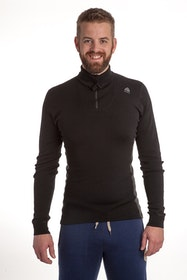 Aclima Warmwool Polo w/zip Man Jet Black/Marengo Tröja