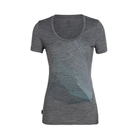 Icebreaker Dam T-shirt Tech Lite SS Scoop Plume Gritstone Hthr
