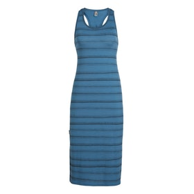 Icebreaker Dam Klänning Yanni Tank Midi Dress Thunder/Black/Scratch Stripe