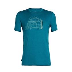 Icebreaker Herr T-shirt Tech Lite SS Crewe Surfspot Camper Poseidon