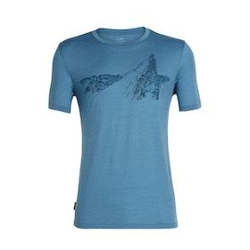 Icebreaker Herr T-shirt Tech Lite SS Crewe La Meije Thunder
