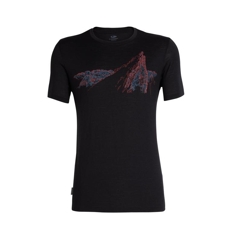 Icebreaker Herr T-shirt Tech Lite SS Crewe La Meije Black