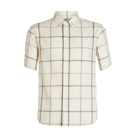 Icebreaker Herr Skjorta Compass SS Shirt Snow/Timberwolf/Plaid