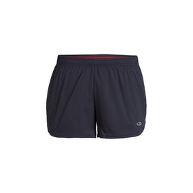 Icebreaker Dam Shorts Impulse Running Shorts Panther/Ember