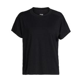 Icebreaker Dam T-shirt Kinetica SS Crewe Black
