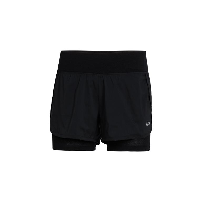 Icebreaker Dam Shorts Impulse Training Shorts Black