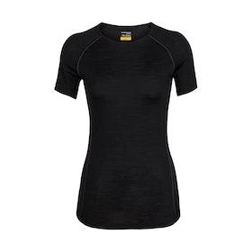 Icebreaker Dam T-shirt Zone SS Crewe Black
