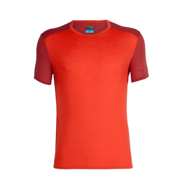 Icebreaker Herr T-shirt Amplify SS Crewe Chili Red/Sienna